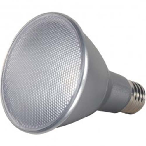 Satco S9431 - 13 Watt - PAR30 Long Neck LED - Silver - 3000K - Medium Base - 40 Deg. Beam Spread - 120V - Dimmable - 6 Packs