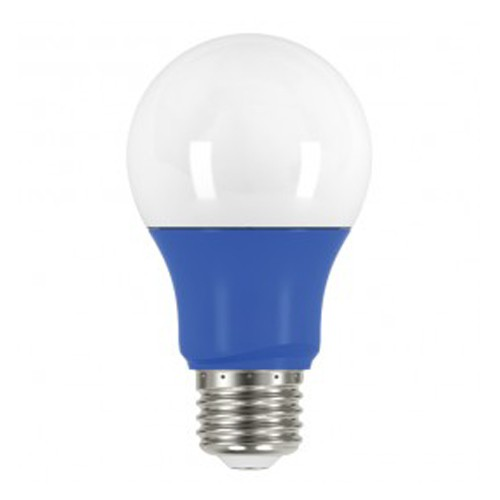Satco S9644 - 2 Watt - A19 LED - 200 Lumens - Medium base - 220 Deg. Beam Spread - 120V - Blue - 6 Packs
