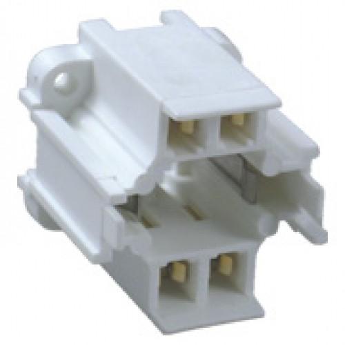 SC-225-2, 4-PIn CFL-D/E 26W Vertical Screw Mount Socket - G24q-3