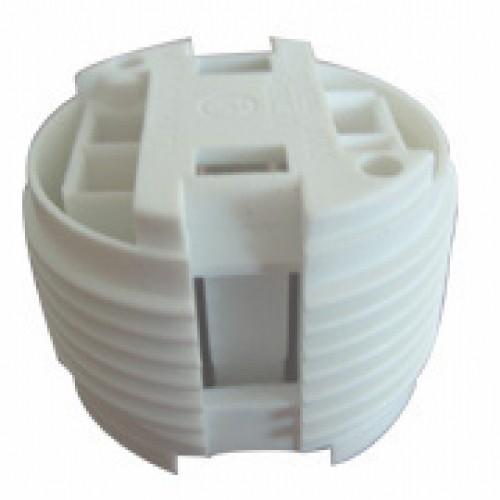 SC-228, 4-Pin CFL 10-42W Outer Threaded Lampholder for G24q-1, G24q-2, G24q-3, G24q-4 Base