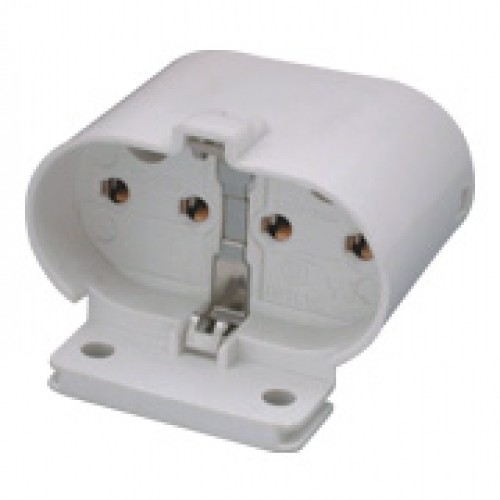 SC-229, 4-Pin CFL-L Horizontal / Vertical Screw Mount Socket - 2G11 Base