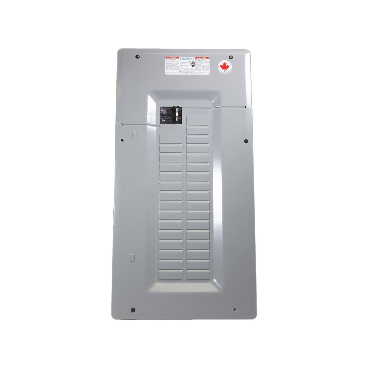 Siemens SEQ32100SM - SEQ Single Phase Main Breaker Loadcentres - 100A - 120/240V - 32/64 Circuits - 4-2/0 Lug Data - Combination Flush/Surface mounted - Without door