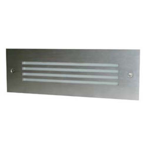 RAB Design  SLOT-1W-W-120V S/SILVER - Step Lights - 8 Watt - 120 Volt - Silver Finish - Wide Beam Pattern