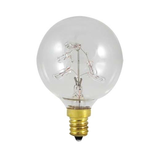 Bulbrite 716310 - 5W G16 Clear - 5 x 1W Mini Bulbs - 130V - E12 Candelabra Base - 10 Lumens - 12 Packs