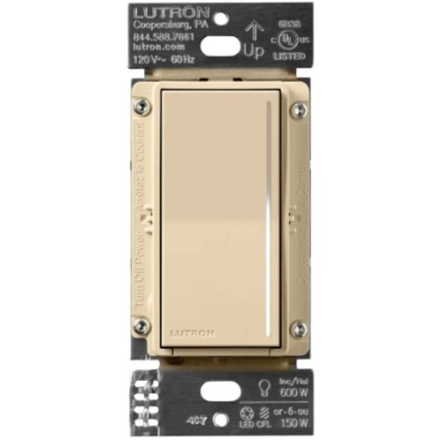 Lutron STCL-153P-IV - Sunnata LED+ Single Pole / 3-Way Touch Dimmer - 150W LED/CFL Or 600W Incandescent/Halogen - 120V - Ivory