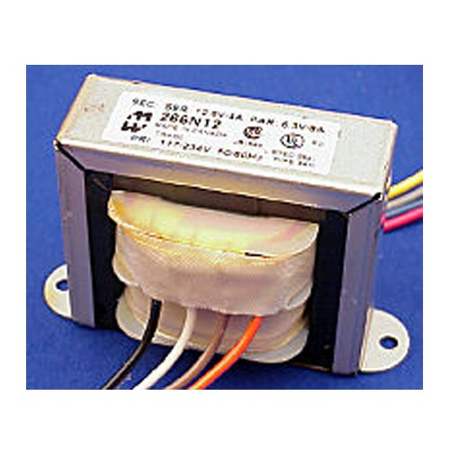 Hammond 266N12B - Power Transformer - Low Voltage/Filament - Open Style - Chassis Mount - 117/234 VAC Dual Primary - 50/60Hz - 48VA