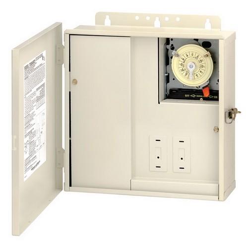 Intermatic T10004RT3 - Pool Panel with Transformer - (1) T104M Mechanism - Steel Case - Beige Finish - 300 Watt Transformer