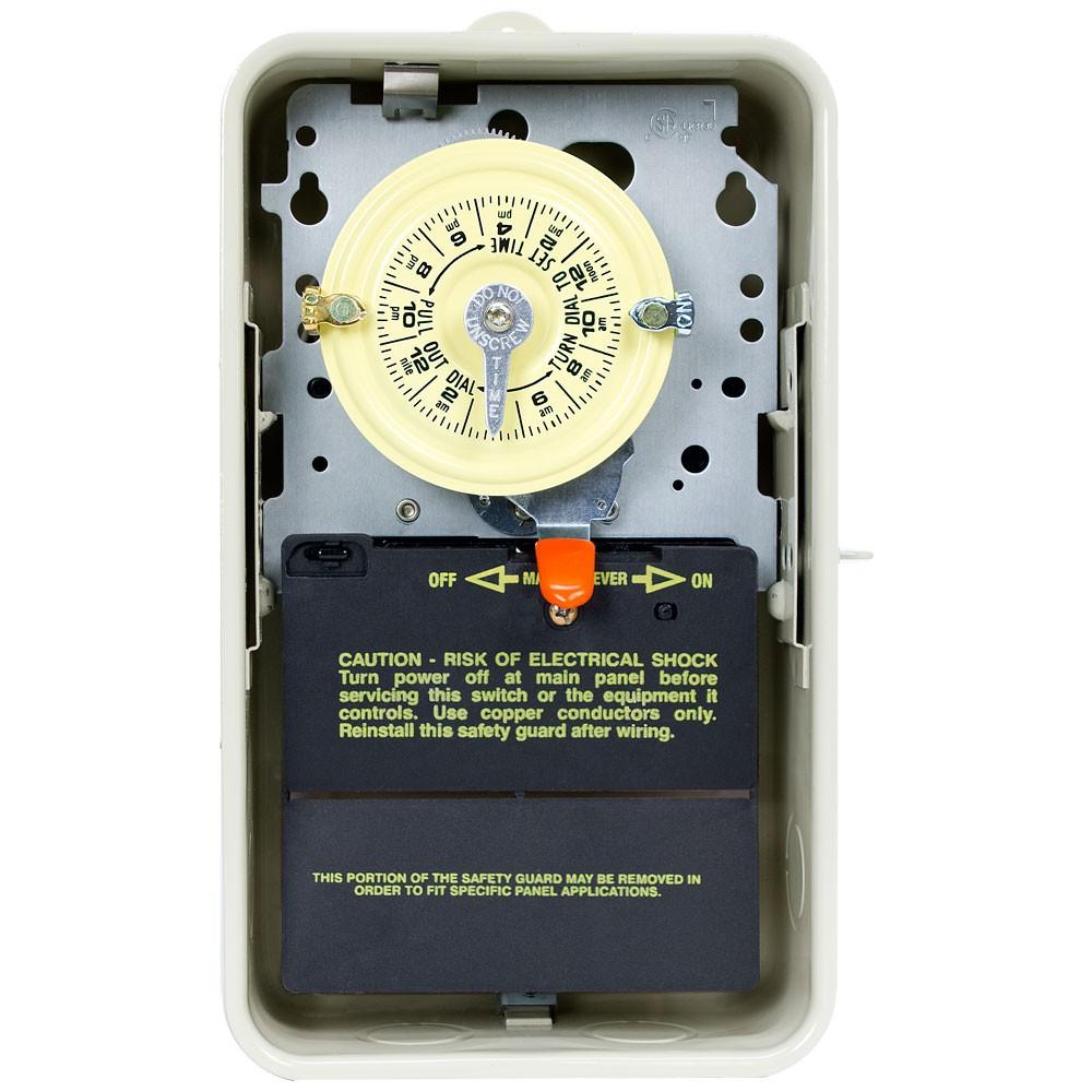 Intermatic T101P3 - Pool / Spa Mechanical Time Switch - NEMA 3R Raintight Plastic Case - Beige Finish - SPST - 40 Amps - 120 Volt