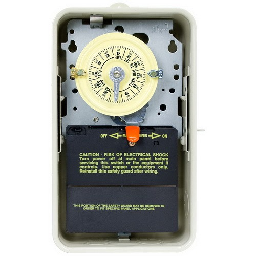Intermatic T101R3 - Pool/Spa Mechanical Time Switch - NEMA 3R Raintight Steel Case - Beige Finish - SPST - 40 Amps - 120 Volt