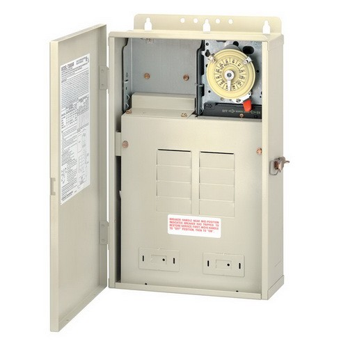 Intermatic T30004R - Pool / Spa Mechanical Control Panel - (1) T104M Mechanism - Steel Case - Beige Finish - SPST - 100 Amps - 240 Volt
