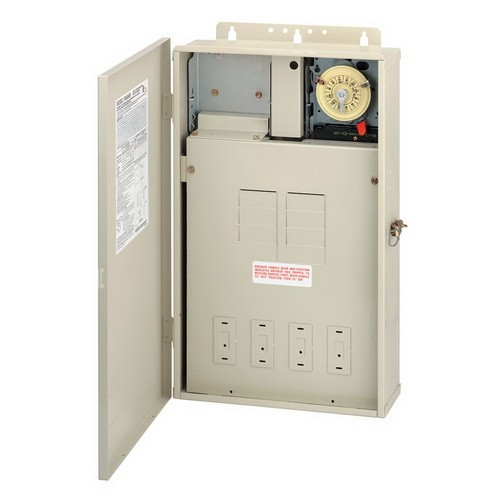 Intermatic T40004R - Pool / Spa Mechanical Control Panel - (1) T104M Mechanism - Steel Case - Beige Finish - DPST - 125 Amps - 240 Volt
