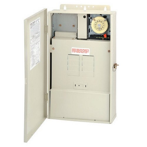 Intermatic T40004RT3 - Pool Panel with Transformer - (1) T104M Mechanism - Steel Case - Beige Finish - 300 Watt Transformer