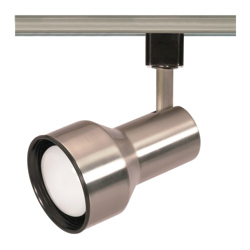 Satco TH303 - 1-Light R20 Step Cylinder Track Lighting Head - 50 Watts - R20/PAR20 Bulb - Incandescent - Medium Base - Brushed Nickel Finish