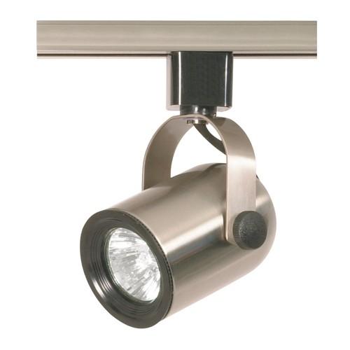 Satco TH317 - 1-Light Round Back Track Lighting Head - 50 Watts - 120 Volts - MR16 Bulb - Halogen - GU10 Base - Brushed Nickel Finish