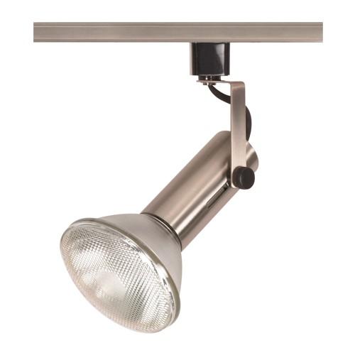 "Satco TH324 - 1-Light 2"" Universal Bulb Holder Track Lighting Head - 150 Watts - Universal Bulb - Incandescent - Medium Base - Brushed Nickel Finish"