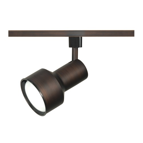 Satco TH342 - 1-Light R30 Step Cylinder Track Lighting Head - 75 Watts - R30/PAR30 Long Neck Bulb - Incandescent - Medium Base - Russet Bronze Finish