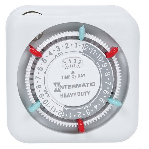 Intermatic TN311C - 24 Hour Heavy Duty Mechanical Indoor Timer - 1 Grounded Outlet - 15 Amps - 125 VAC