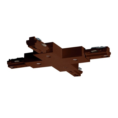 "Satco TP206 - ""X"" Connector - Brown Finish"