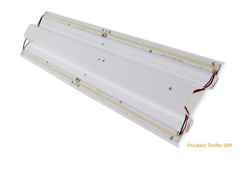 LED Troffer Retrofit Kit - 2' x 2' - 30 Watt - 3900 Lumens - 4000K Cool White - 347V - Delviro ZEN2-2x2-30-4K-H