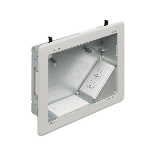 "Arlington TVBS810 - 8"" x 10"" power/low voltage box for Versatile Home Theater Installations - Steel"