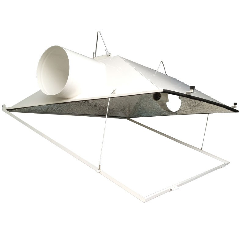 UltraGROW - Super Large Reflector Grow Light Hood - MH or HPS - 8 in. Dia. Flanges for Exhaust Duct - Mogul Base Socket - Operates up to 1000 Watt - UG-R/SLH/8