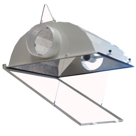 UltraGROW UG-RAC/6 - Grow Light Air Cooled Hood - MH or HPS - 6 in. Dia. Flanges for Exhaust Duct - Mogul Base Socket - Operates up to 1000 Watt