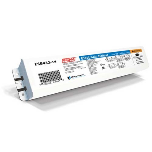 ESB432-14 - Signa Electronic Sign Ballast - 1-4 Lamps - (4' - 32' T12HO / T8HO Lamps) - 120 to 277 Vac - Instant Start