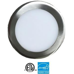"""EEL UTLED-6-S12W-3KBN - UltraThin 6"""" LED Recessed - 12 Watt - 700 Lumens - 3000K - 1/2"""" Thickness - 120V - IC Rated - Brushed Nickel"""