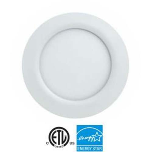 "EEL UltraThin 4"" LED Recessed - 9 Watt - 550 Lumens - 3000K Warm White - 1/2"" Thickness - 120V - IC Rated - White Trim"
