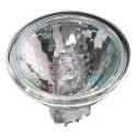 Ushio 1001113 - 20 Watt - MR16 - Eurostar - 12 Degree Spot - Front Glass Cover - 2500 Life Hours - 24 Volt - 2925K - 50 Packs