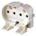 Leviton 13455 - 600V - Twin Tube Fluorescent Lampholder - 2G11 Base - 4-Pin - Horizontal - Screw Mount - White