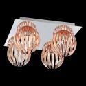 Eurofase 23207-011 - Cosmo - 4 Light Flushmount  - Chrome - Amber - 120V - 40W - G9 - G9