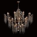 Eurofase 25658-019 - Capri - 27 Light Chandelier - Bronze - Clear Crystal - 120V - 40W - B10 - E12