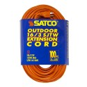 Satco 93-5007 - Orange outdoor light duty extension cords - 10A - 125V - 1250W - 100Ft. - Orange - 6 Packs
