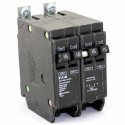 Eaton Type BQLT15215 - Outer 2 Single Pole 15A & Inner 1 Double Pole 15A Circuit Breaker - 120/240VAC - Inside Poles Common Trip