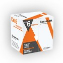 SecurLink CBL-CAT6-P1000 B - CAT6 Cable - Plenum, CMP - 23 AWG X 4 Pairs Solid Pure Copper - 1000'(305m) Length - Blue