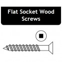 7 x 1-1/4 Flat Socket Wood Screw - Price for Pack of 100 PCS - Hold-Tite SWDFS711400