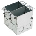 Arlington FLB5549 - Steel Two Gang Floor Outlet Box with Installed Low Voltage Divider - 10 Packs