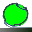 Clip-On Green Lens for MR16 Lamps - Symban SL-Green
