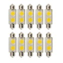 Bulbrite 770531 - 0.8W T3 Festoon Base LED Bulb - 3000K Warm White - Clear - 24V - 3W Festoon Equals - 10Packs