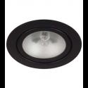 Black Mini Halogen Metal Puck Light - 20W - 12V - Recessed or Surface Mounted - Liteline ML-1JC20-BK