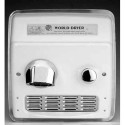 Model A RA52-Q974 - Hand Dryer - 115V - Cast Iron White - Recessed A.D.A. Compliant Push-Button Hand Dryer