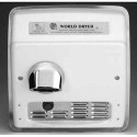 Model A XRA54-Q974 - Hand Dryer - 208-230V - Cast Iron White - Recessed A.D.A. Compliant Automatic Hand Dryer