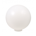 Liteline P-12N - 12″ Polyethylene Globe with Neck - White Color - Min. Hole Size 4""