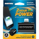 Rayovac PS72-BT6 GEN - External Instant Battery Charger for Micro-USB Devices -  2 Hrs. Talk Time - CR123 Lithium Battery