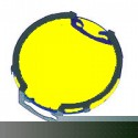 Clip-On Yellow Lens for MR16 Lamps - Symban SL-Yellow