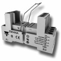 Carlo Gavazzi ZMI4NA-M - Din Rail Socket for 14 Pin RMI Relays - Base and Metal Spring Included