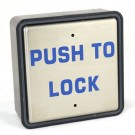 """Larco 0034001600 - Push Plate Wall Switch - 4 1/2"""" Square """"Push to Lock"""" with Universal Box, with LED Back Light"""