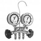"ALLTEMP 04-M2-5 - 1/4"" Standard Bar - Charging & Testing Manifolds - Manifold & 5' standard hose set"
