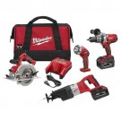 Milwaukee 0928-29 - M28 Cordless LITHIUM-ION 4-Piece Combo Kit